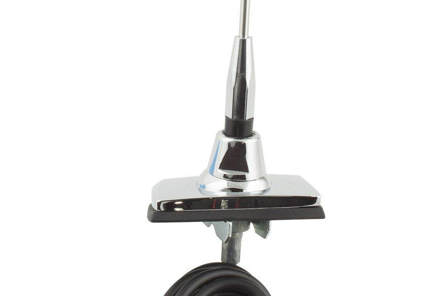 Retrosound Universal 1965-85 Ford Replacement Antenna with Rectangular Base & Fixed Mast